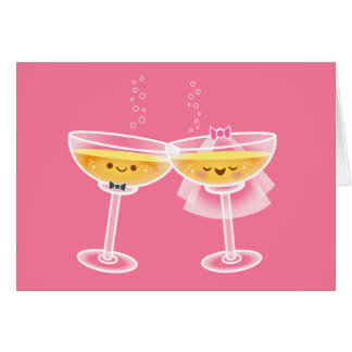 Kawaii Champagne Card