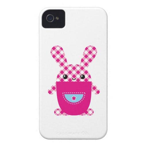 Kawaii checkered rabbit blackberry bold cases