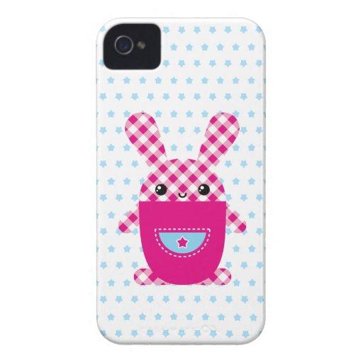 Kawaii checkered rabbit blackberry bold case