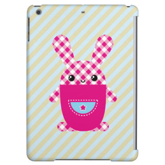 Kawaii checkered rabbit case for iPad air