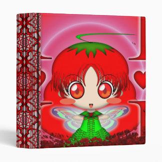 Kawaii Chibi Tomato Fairy Binders