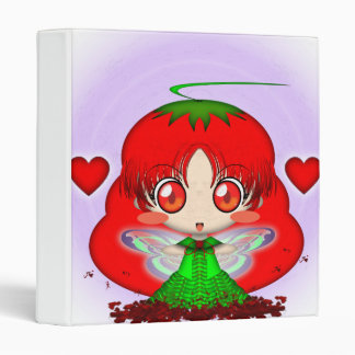 Kawaii Chibi Tomato Fairy Transparent Vinyl Binder