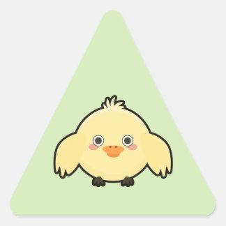 Kawaii Chick Triangle Sticker