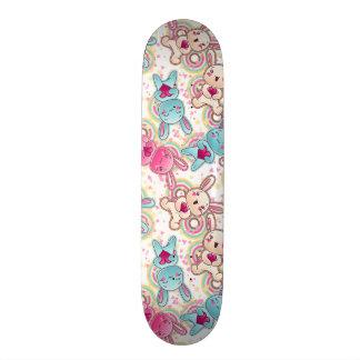Kawaii Child Pattern with Cute Doodles Skateboard