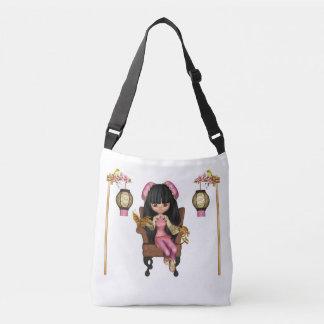 Kawaii China Doll Scene Crossbody Bag