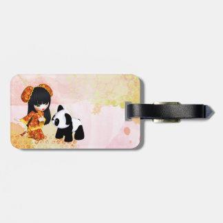 Kawaii China Girl Luggage Tag