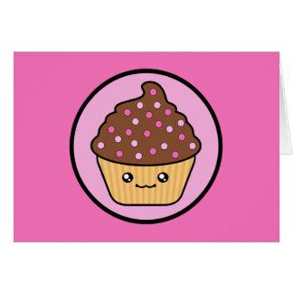 Kawaii Chocolate Cupcake Birthday Card