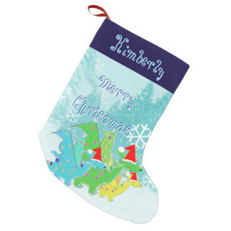 Kawaii Christmas Dragons Small Christmas Stocking
