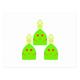 Kawaii Christmas Tree Ladies Postcard