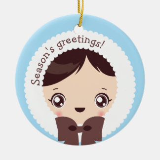 Kawaii Clara - Winter (Daniel) Ceramic Ornament