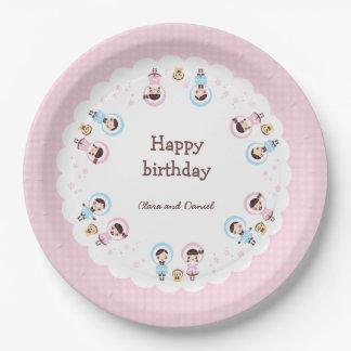 Kawaii Clara - Winter (pink) 9 Inch Paper Plate