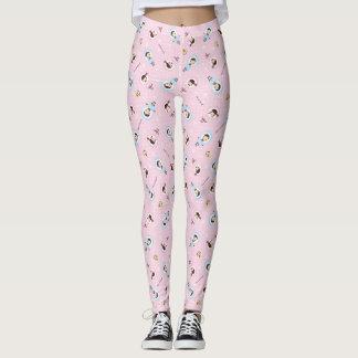 Kawaii Clara - Winter (pink) Leggings