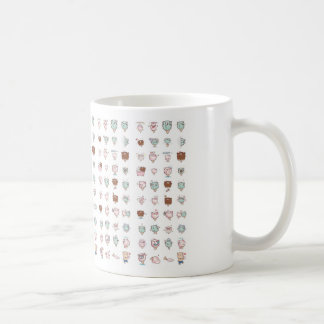 kawaii classic white coffee mug