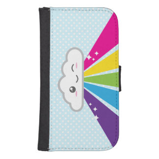 Kawaii Cloud and Rainbow Samsung Wallet Case Galaxy S4 Wallet Case