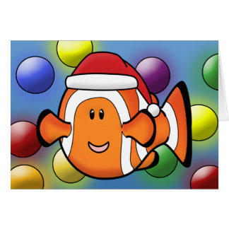 Kawaii Clownfish Christmas Card