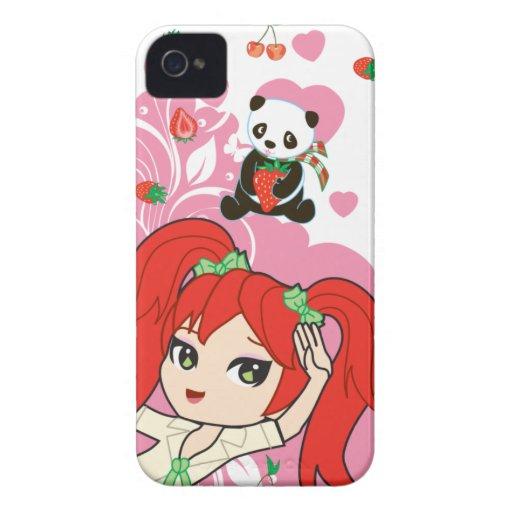 Kawaii Coco the School Girl Chibi 9700/9780 Blackberry Case
