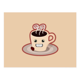 Kawaii Coffee Postcard