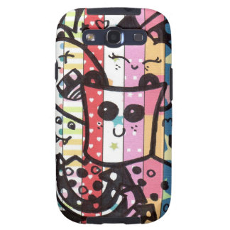 kawaii colorful doodle samsung galaxy s3 cases