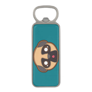 Kawaii cool pug bottleopener magnetic bottle opener