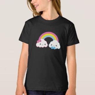 Kawaii Couple Clouds with Rainbow T-Shirt