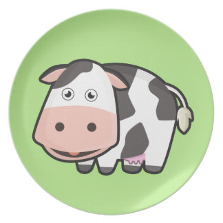Kawaii Cow Dinner Plate