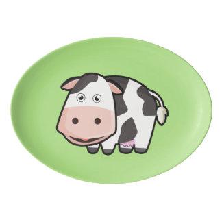 Kawaii Cow Porcelain Serving Platter