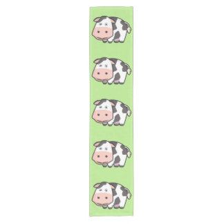Kawaii Cow Short Table Runner