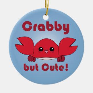 Kawaii Crabby but Cute ornament
