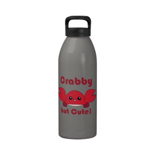 Kawaii Crabby but Cute water bottle