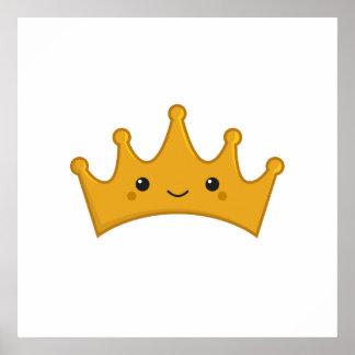 Kawaii Crown Poster