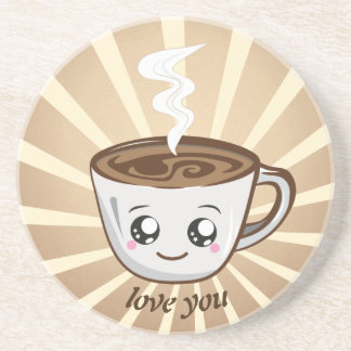 Kawaii Cup of coffee Drink Coasters