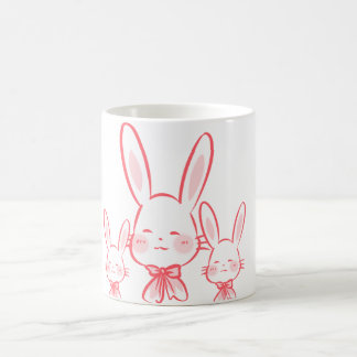 Kawaii cup with rabbits