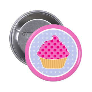 Kawaii Cupcake 2 Inch Round Button