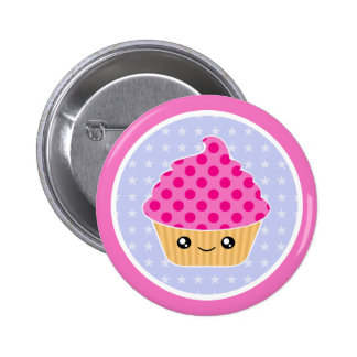 Kawaii Cupcake 2 Inch Round Button