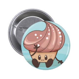 Kawaii Cupcake Badge Pin