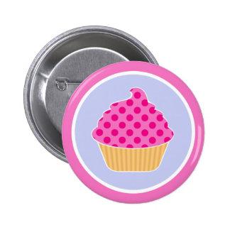 Kawaii Cupcake Pinback Button