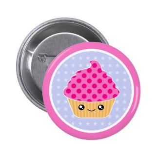 Kawaii Cupcake Pinback Buttons