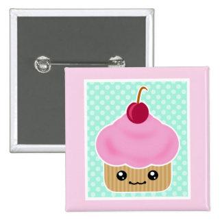 Kawaii Cupcake Cherry Buttons