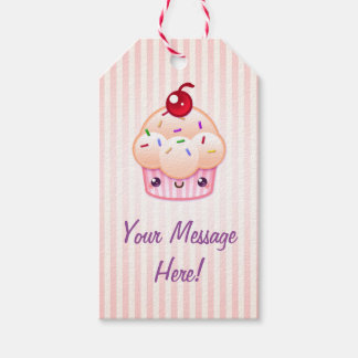 Kawaii Cupcake (Custom Text) Gift Tags