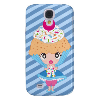 Kawaii Cupcake Girl Samsung Galaxy S4 Cases