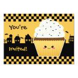 Kawaii Cupcake Halloween party Custom Invitations