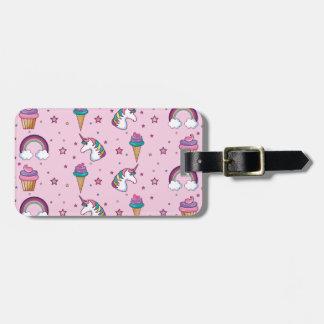 Kawaii Cupcake Icecream Unicorn Fairytale Luggage Tag
