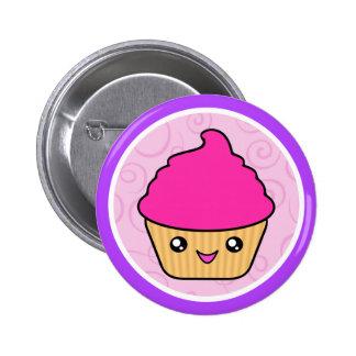 Kawaii Cuppy Cake Pink Cupcake 2 Inch Round Button