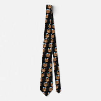 Kawaii/Cute Bear- Black Neck Tie