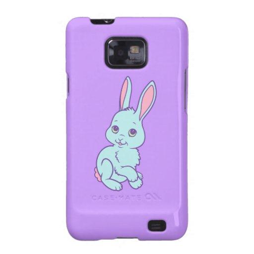 Kawaii Cute Cartoon Bunny Rabbit Galaxy SII Cover