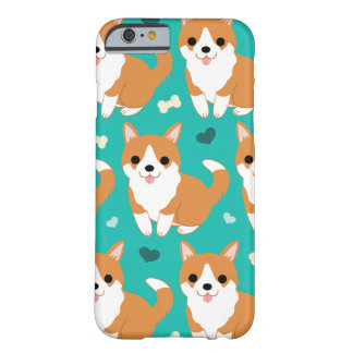 Kawaii Cute Corgi dog simple illustration pattern Barely There iPhone 6 Case
