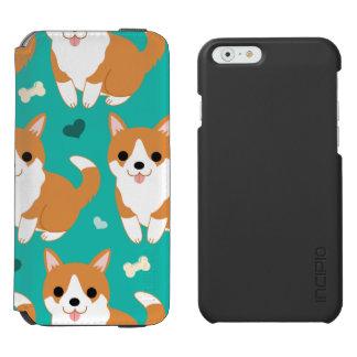 Kawaii Cute Corgi dog simple illustration pattern Incipio Watson™ iPhone 6 Wallet Case