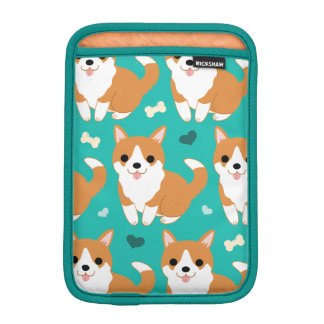 Kawaii Cute Corgi dog simple illustration pattern iPad Mini Sleeve