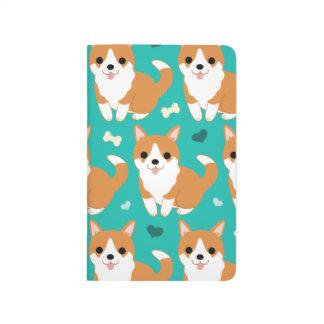 Kawaii Cute Corgi dog simple illustration pattern Journal