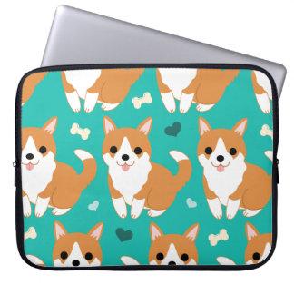 Kawaii Cute Corgi dog simple illustration pattern Laptop Sleeve